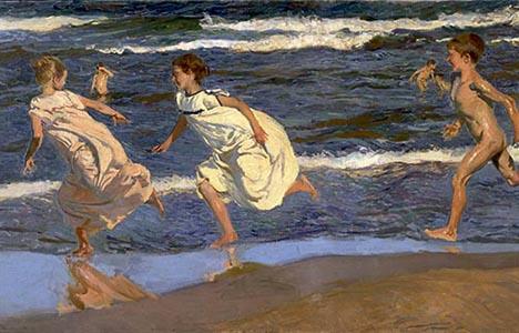 «Nens corrents per la platja» de Joaquín Sorolla