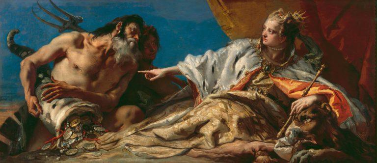 Giambattista TIEPOLO   L'O rande faite par Neptune à Venise   1756 - 1758   huile sur toile   135 x 275 cm   Venise, Palazzo Ducale   © Cameraphoto/Scala, Firenze