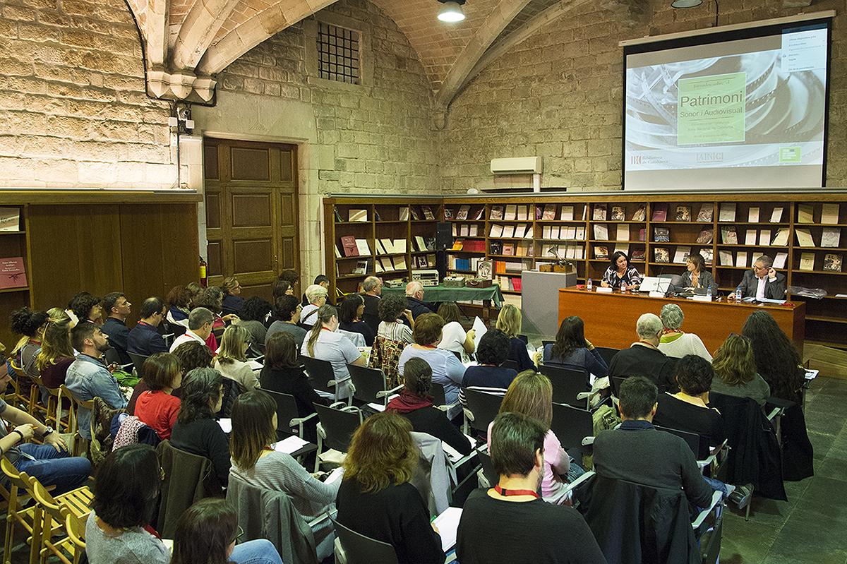 Jornades sobre el Patrimoni sonor i audiovisual              | Biblioteca de Catalunya – Oriol Miralles