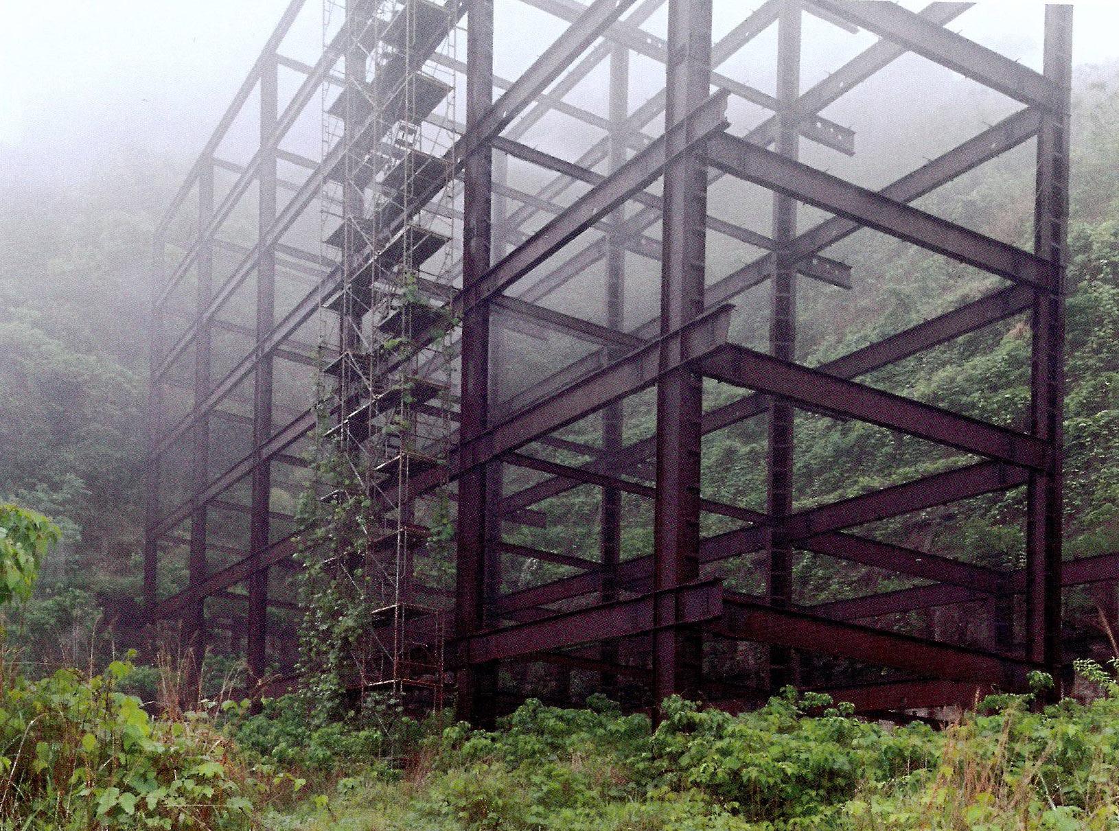 'Guia', una fotografia de l'estructura metàl·lica d'un edifici abandonat a mig fer al Japó.              | Álvaro Sánchez-Montañés