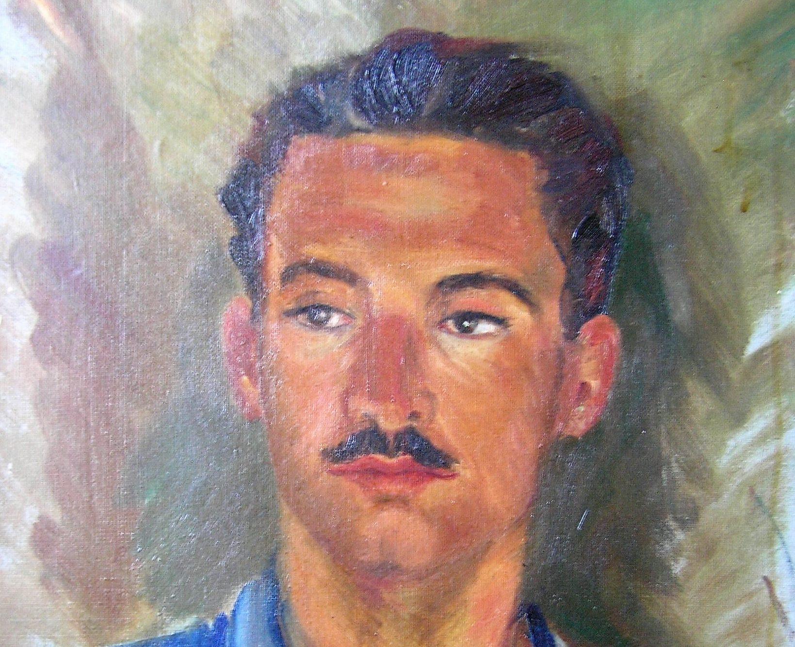 Retrat de Francesc Fontbona Vázquez, oli de 1944 @ Col·lecció de Francesc Fontbona              | Teresa Vilarrubias