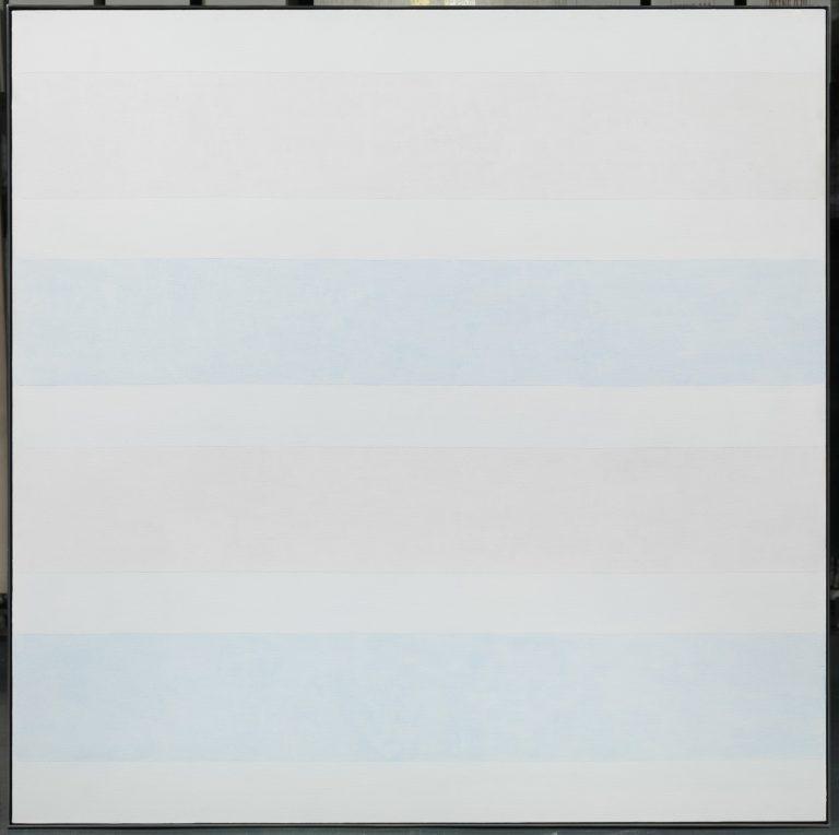"""Agnes Martin   Sense títol, nº7, 1997   Acrílic i grafit sobre tela   152,4 x 152,4 cm   Col·lecció """"la Caixa"""". Art Contemporani   © Vegap"""