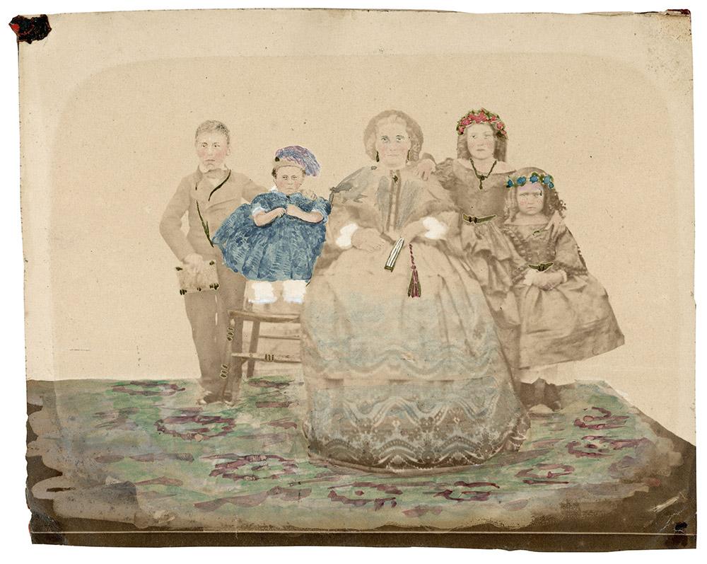 Retrat d'estudi de la família Galibern de Rezende, c.1862. Bagé, Rio Grande do Sul (Brasil), autor desconegut.