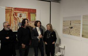 Inauguració de l'exposició Les imatges eco al Bòlit, el passat 25 de gener; d'esquerra a dreta, Pep Admetlla, Isaki Lacuesta, Marta Madrenas i Maria Àngels Ponsa.
