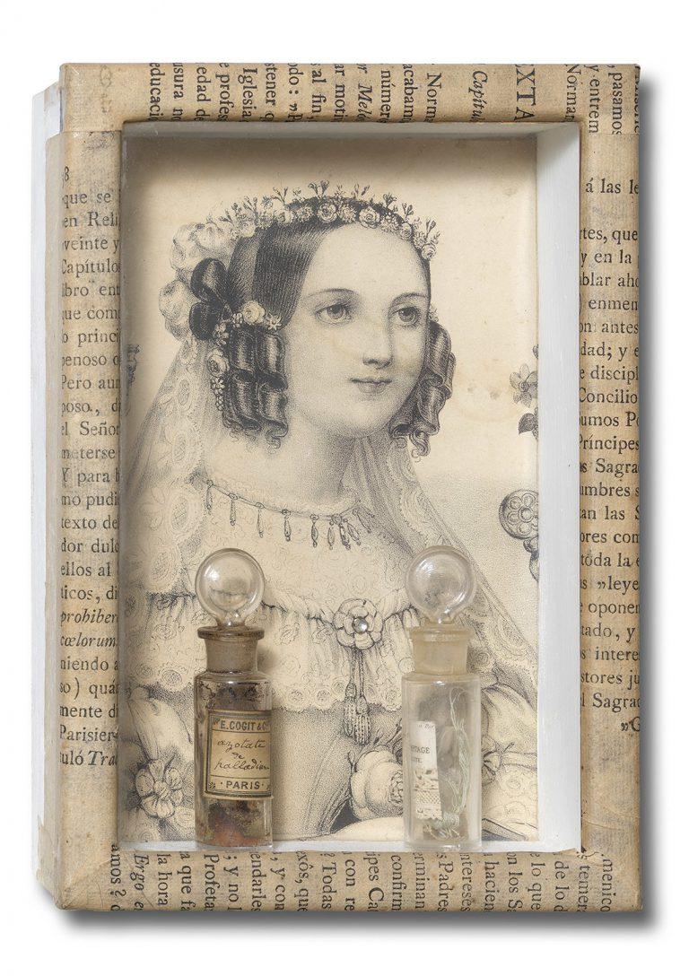 Àngel Bofarull: 'La núvia', collage (1994).