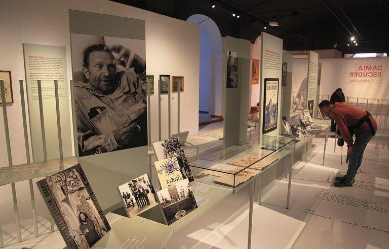 Un aspecte del muntatge al Museu d'Història de Girona, concebut per Pepe Canaleta | El Punt Avui / Oriol Duran