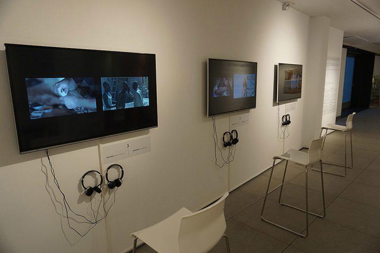 La videoinstal·lació 'Els films dobles', a la seu del Bòlit al Pou Rodó.