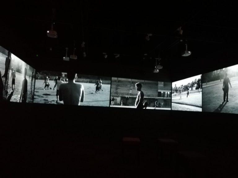 L'assaig visual 'Les imatges eco', a l'espai del Bòlit a la Rambla de Girona