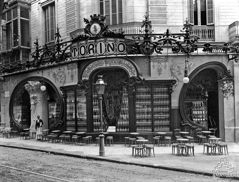 Bar Torino, Barcelona (1905, B-744)