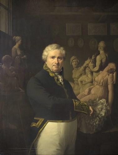 Vicent Rodes fou un dels grans retratistes de la Catalunya del seu temps. Retrat a l'oli de l'escultor Damià Campeny (a.1838), a la Reial Acadèmia Catalana de Belles Arts de Sant Jordi, de Barcelona.