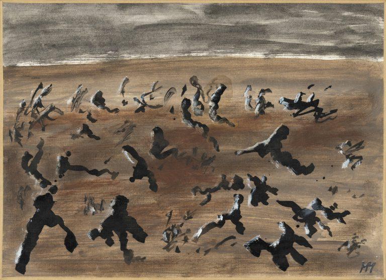 Henri Michaux   Sense títol, 1983   Oli sobre paper de lli   24 x 33 cm   © Cortesia Galerie Lelong & Co.   Fotografia: Fabrice Gibert