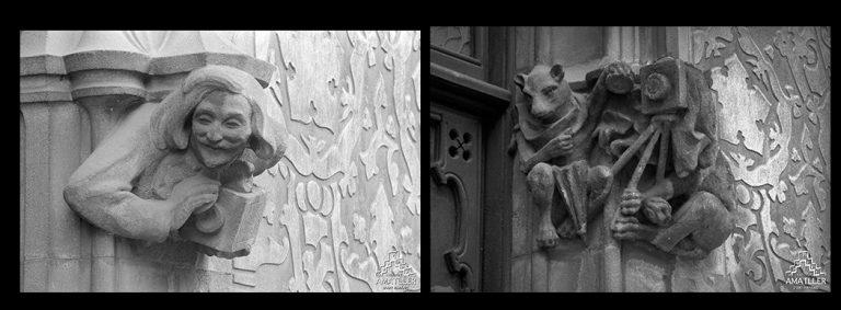 Representacions al·legòriques incloses a la façana de la Casa Amatller.