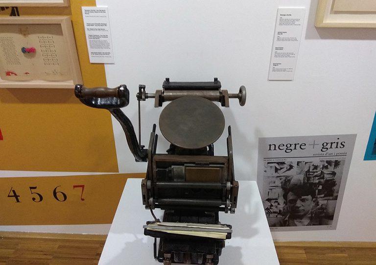Impremta tipogràfica Minerva Boston de platina 1900