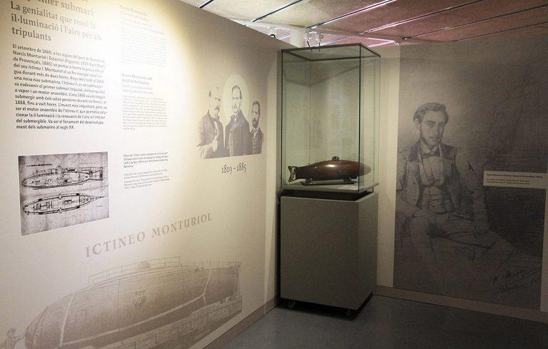 L'exposició, amb la rèplica del submarí de Narcís Monturiol | mNACTEC