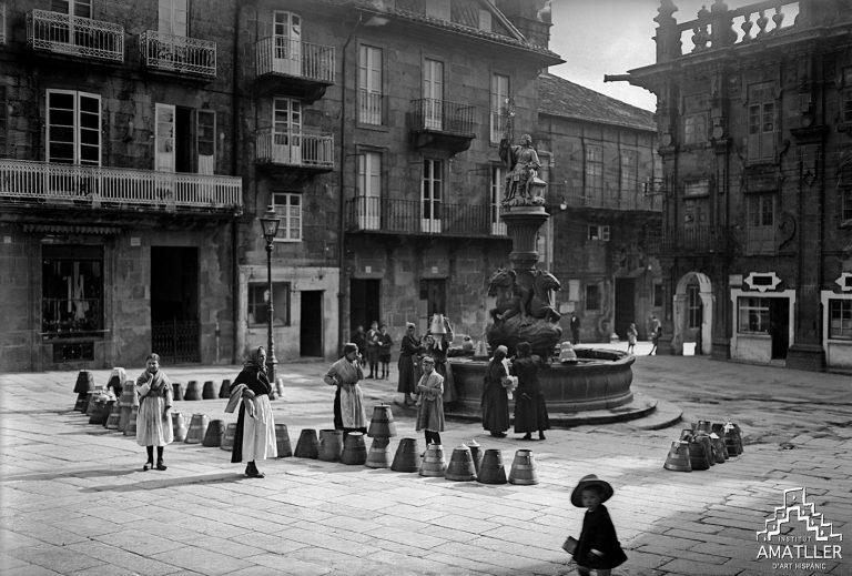 La plaça de Plateries, Santiago de Compostela (1919, C-30555).