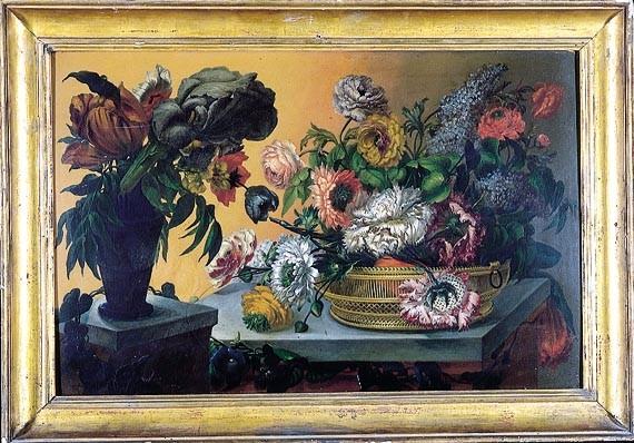 El barceloní Salvador Molet amplià estudis a l'Acadèmia de València: Pintura amb flors (1791?-94), oli. Barcelona, Reial Acadèmia Catalana de Belles Arts de Sant Jordi