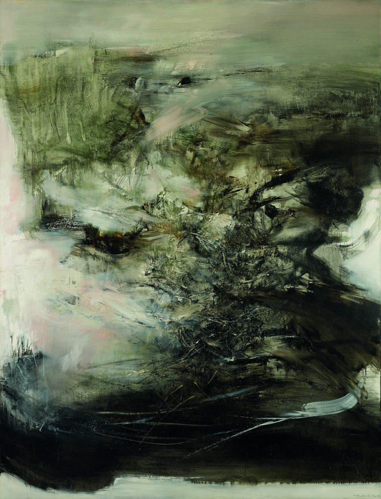 Zao Wou-Ki, 06.01.68, 1968   Huile sur toile   260 x 200 cm   Musée d'Art moderne de la Ville de Paris, achat en 1971 Photo : Julien Vidal/Parisienne de Photographie   Zao Wou-Ki © ADAGP, Paris, 2018