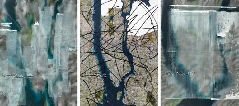 New York (tríptic) 2012-2013-2012, oli damunt tela, 260 x 190 cm c/u.