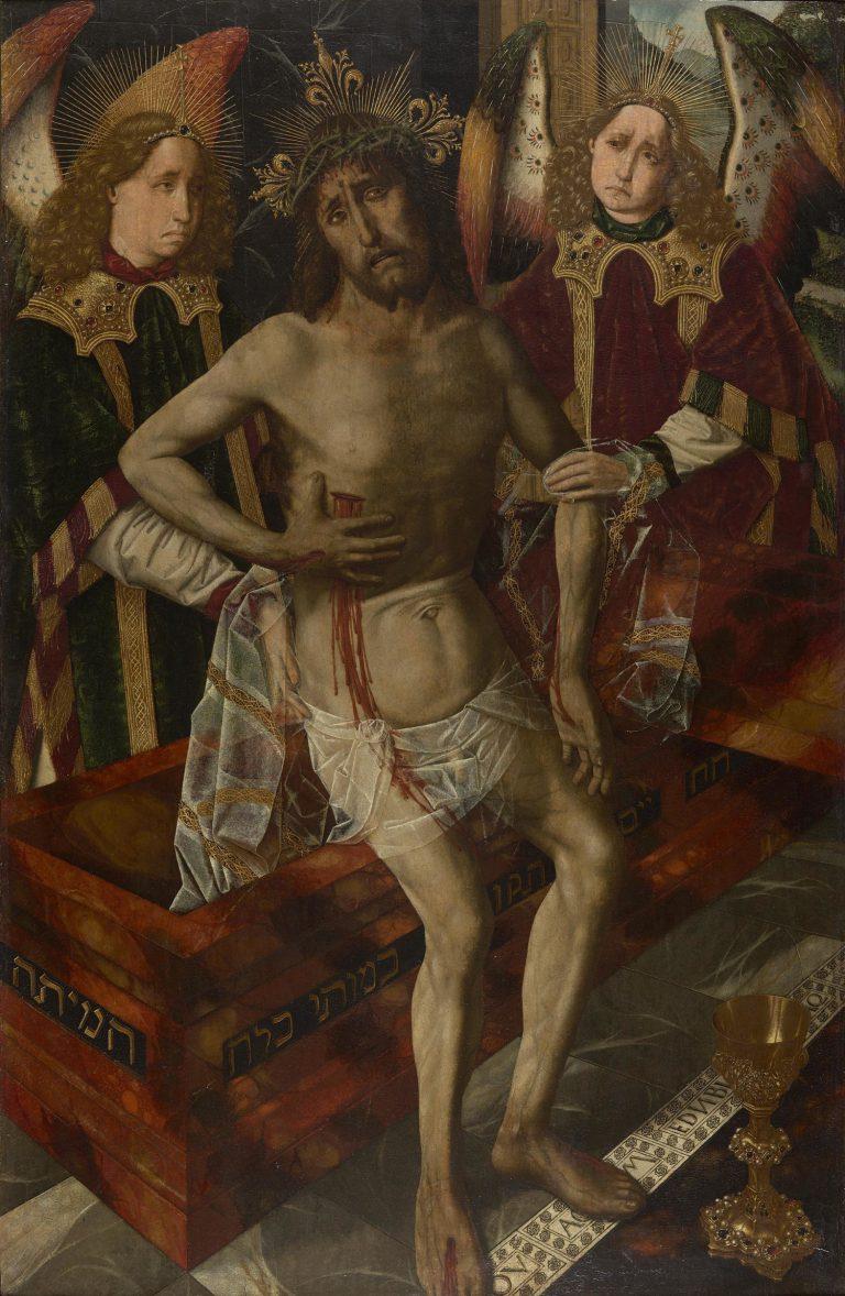 Bartolomé Bermejo, Crist de la Pietat, cap a 1465-1475. Museu del Castell de Peralada.