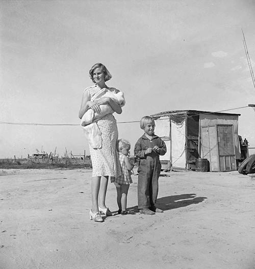 Mare amb els fills a Tulare, Califòrnia @ Dorothea Lange, 1938. Cortesia de la Library of Congress