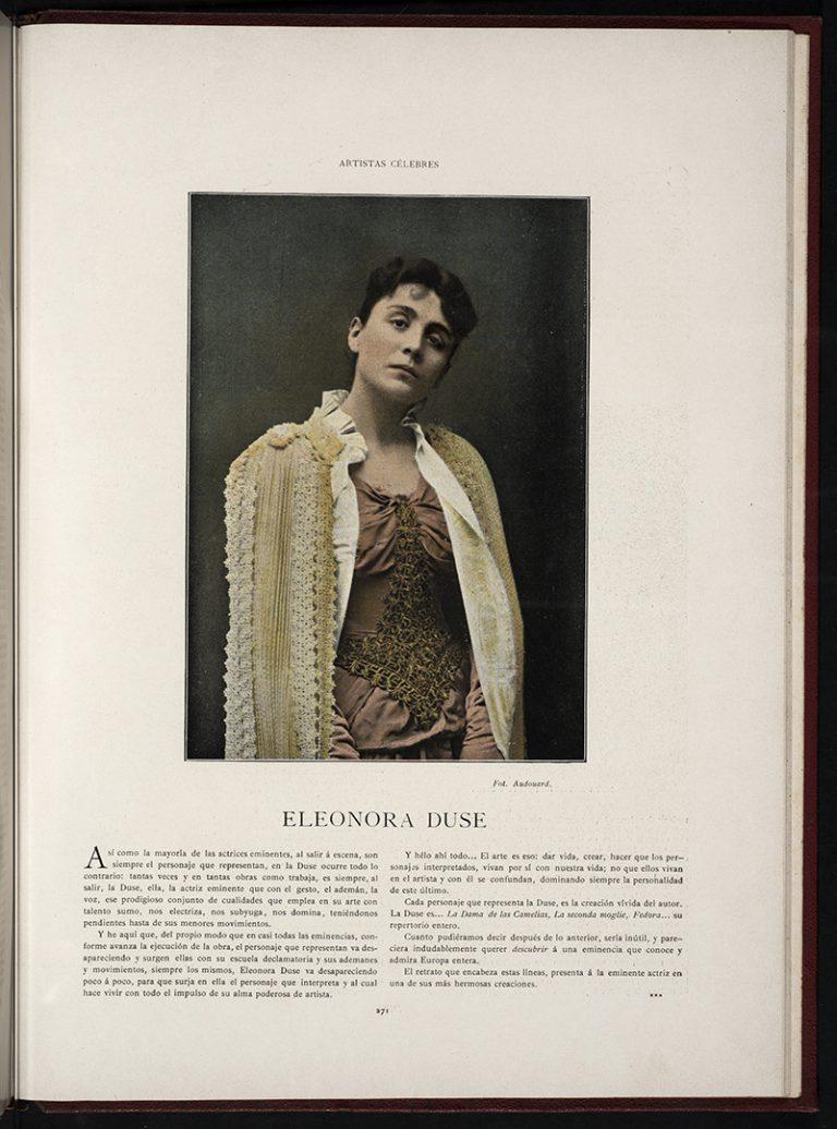 Eleonora Duse retratada per Audouard