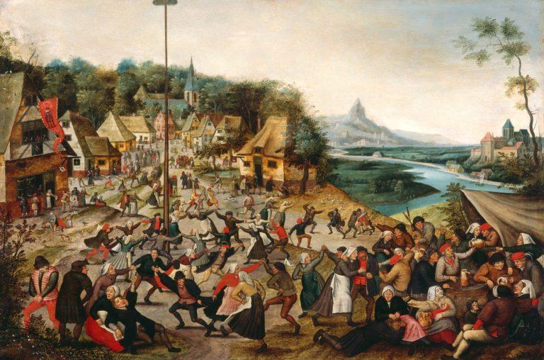 Pieter Brueghel el Jove (Brussel·les 1564 - Anvers 1638)Festa de l'Arbre de maig, cap a 1620.© Musée d'art et d'histoire, Genève. Do de Roger et Françoise Varenne, Genève, 1942, inv. n° 1978-0104. Photo: Bettina Jacot-Descombes.