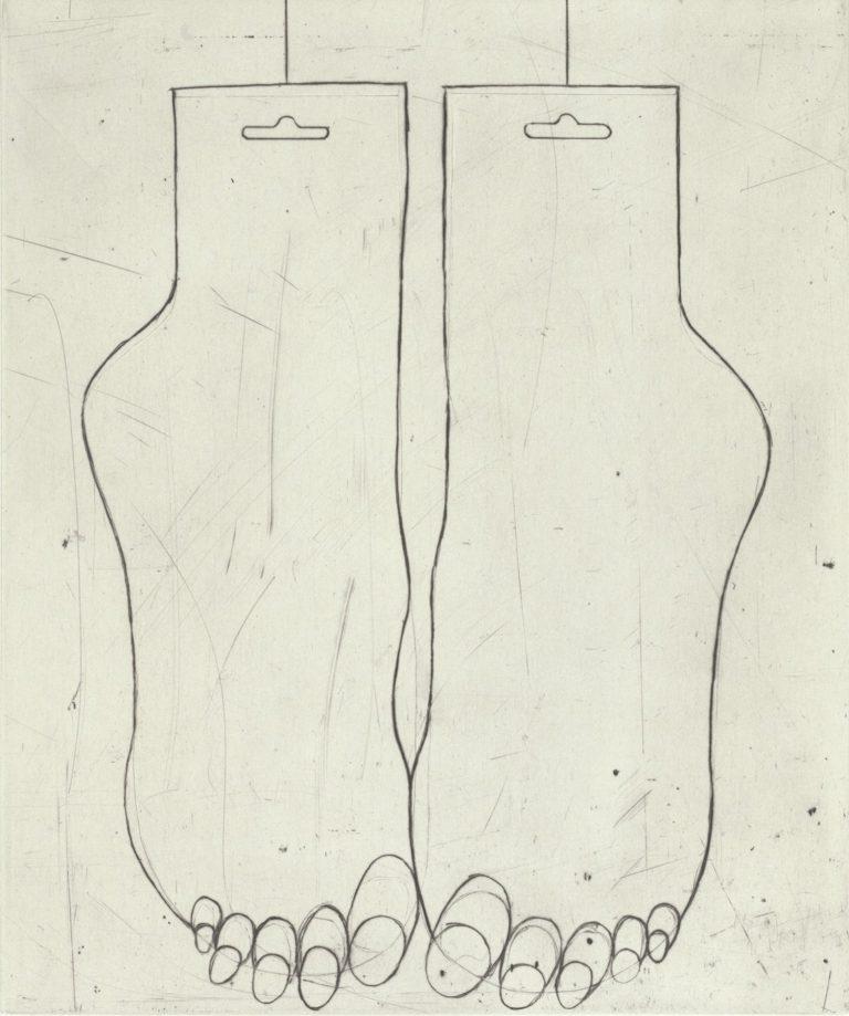 Louise Bourgeois, Feet, 1999, punta seca, 43 x 38 cm, ed de 25