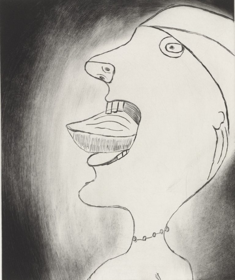 Louise Bourgeois, Madeleine, 1999, punta seca, 43 x 38 cm, ed. de 25