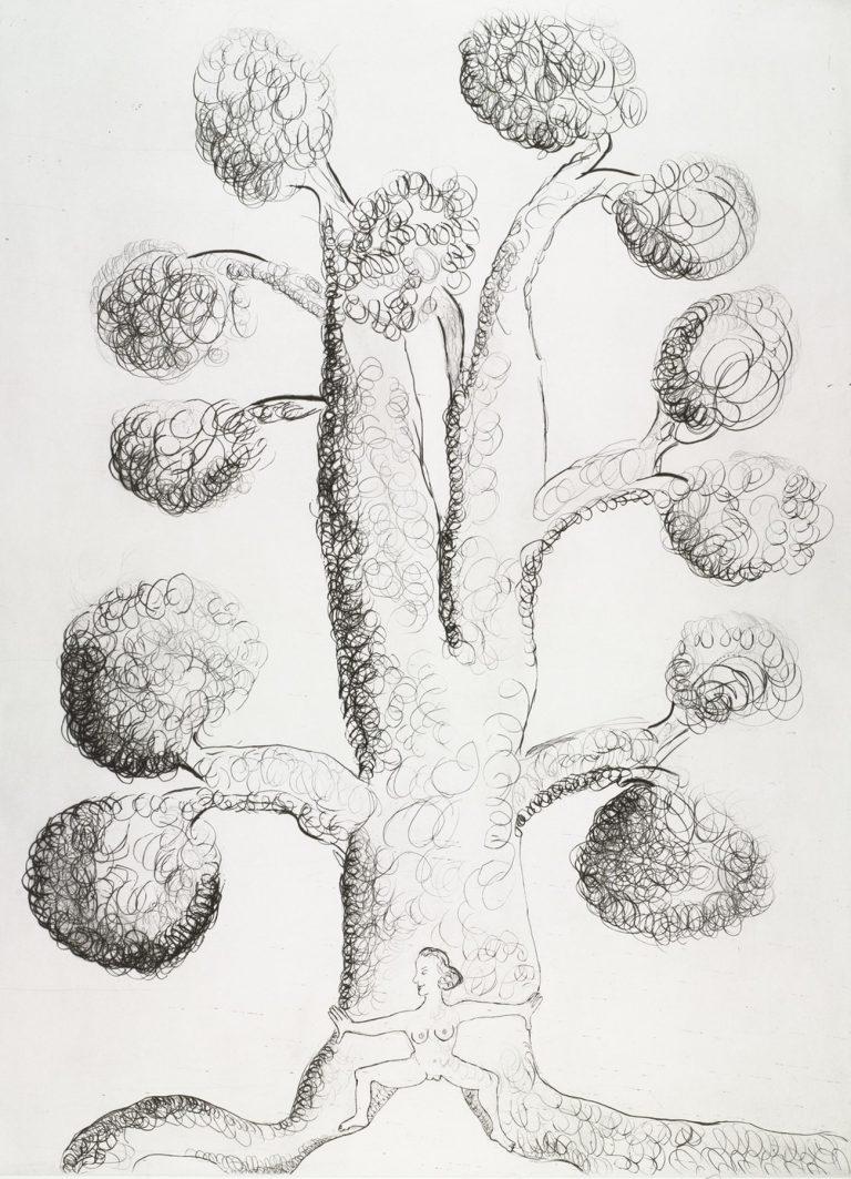 Louise Bourgeois, Topiary The Art of Improving Nature (3), 1988, Grabado con plata de cobre con punta seca en Magnani Incisione, 99 x 71.1 cm, HC