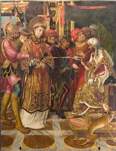 La taula de Joan de Burgunya on es presenta sant Feliu davant del tirà Rufí (c. 1519-1520) | Museu d'Art de Girona