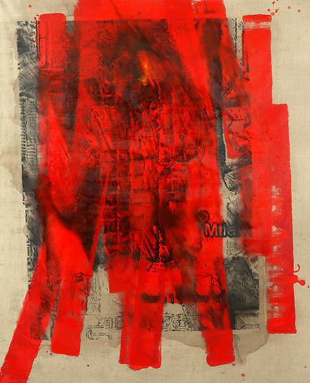Milano. Duomo. Chiodo. 2016, carbó i oli damunt tela, 335 x 255 cm.