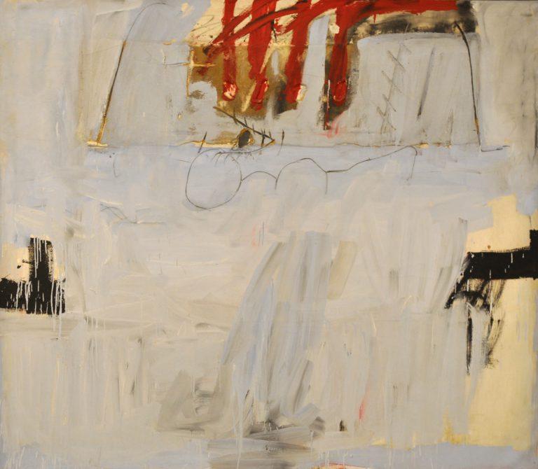 Antoni Tàpies. Blau amb quatre barres roges, 1966 © Comissió Tàpies, Vegap, 2018.