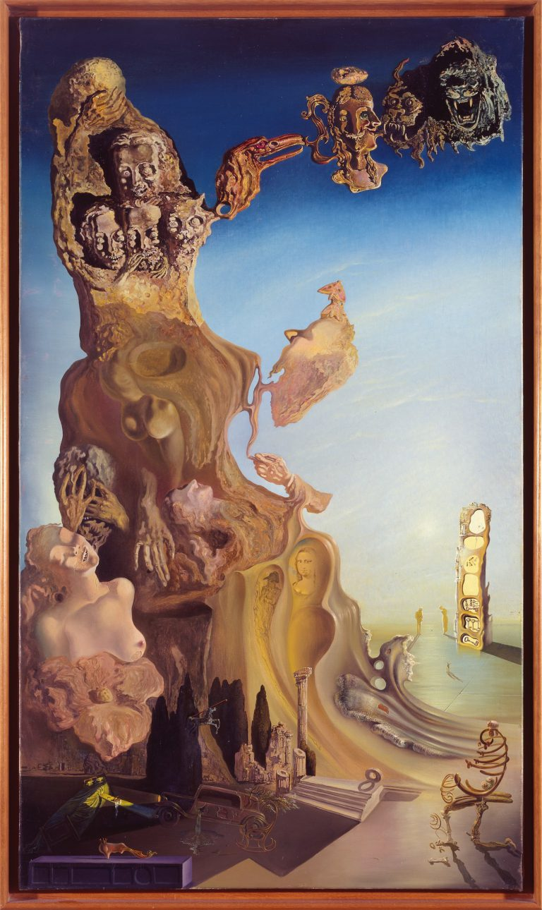 Salvador Dalí, La memòria de la dona-infant.Monument imperial a la dona infant, 1929. Museo   Nacional Centro de Arte Reina Sofía, Madrid. LlegatDalí. © Salvador Dalí, Fundació Gala-Salvador Dalí,VEGAP, Barcelona, 2018.