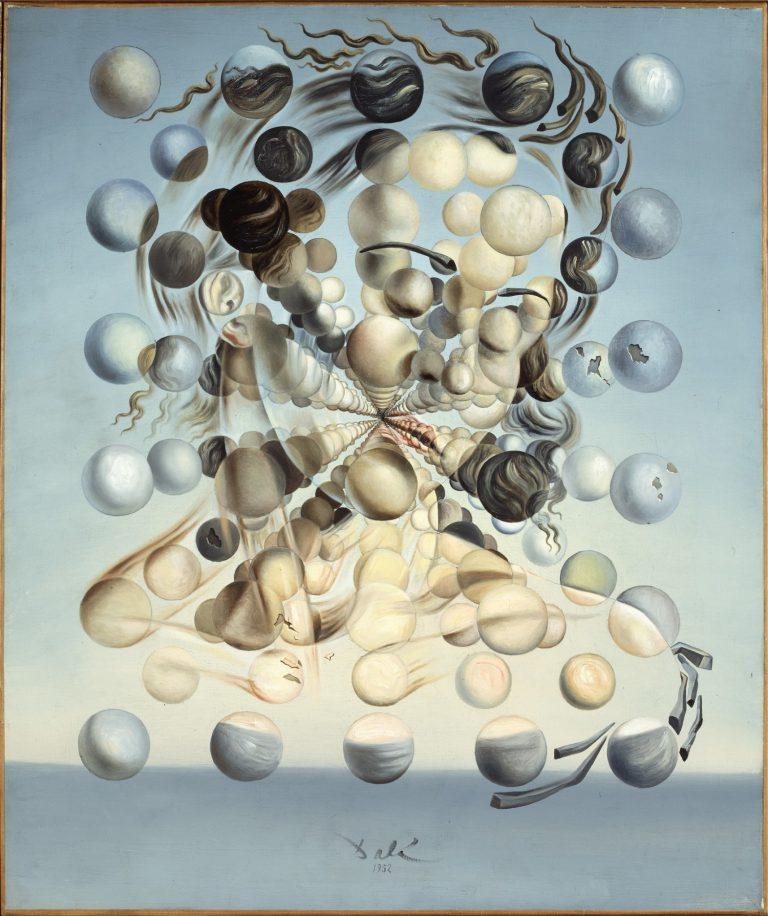 Salvador Dalí,Gala Placídia. Galatea de les esferes,1952. Fundació Gala-Salvador Dalí, Figueres.© Salvador Dalí, Fundació Gala-Salvador Dalí,VEGAP, Barcelona, 2018.