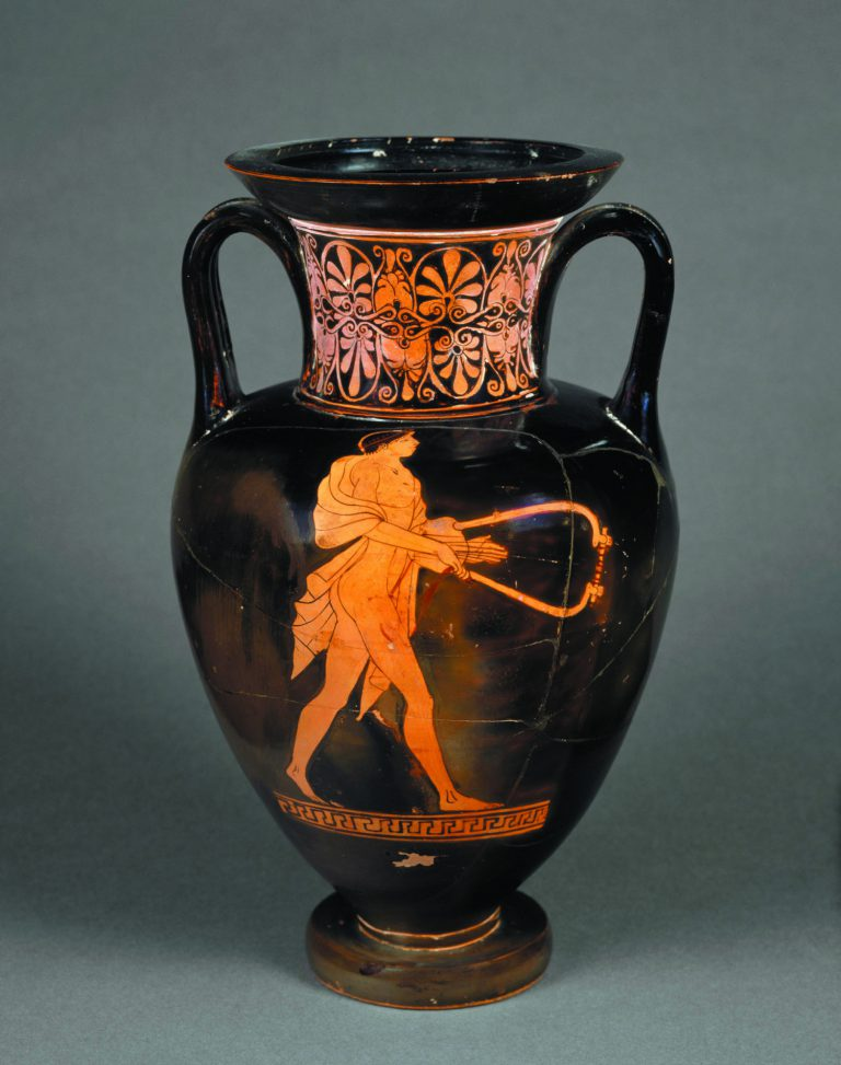Pintor de Berlin,àmfora: citarista, c. 480-470 aC. Àtica, Grècia. Argila. Musée du Louvre. © RMN-Grand Palais, Musée du Louvre. Foto: Hervé Lewandowski