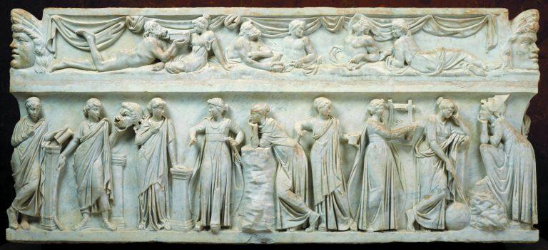 Sarcòfag de les Muses, 150-160 dC. Roma (Itàlia). Marbre. Musée du Louvre. © RMN-Grand Palais, Musée du Louvre. Foto: Stéphane Maréchalle