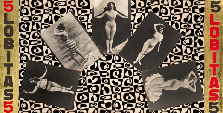 Jacinta Gil Roncalés,Sin título (Cinco Lobitas), 1968. Col. María Criz Gil Simón
