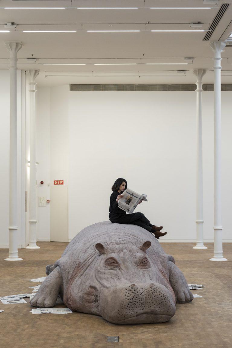 Allora & Calzadilla. Hope Hippo , 2005. © Foto: Roberto Ruiz © Fundació Antoni Tàpies, Barcelona,2018.