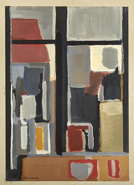 Ràfols Casamada. Finestra (Guaix sobre paper - c.1956) Col·lecció Família Benet
