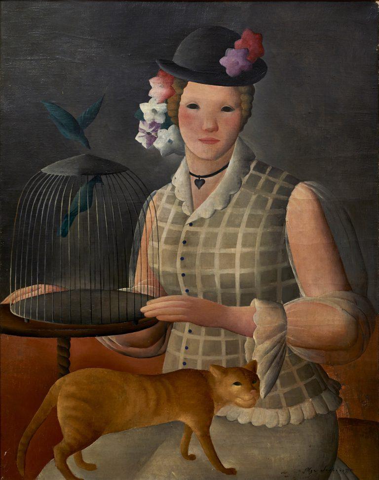Olga Sacharoff, Autoretrat de la gabia (ca. 1924). Oli sobre tela. Col·lecció Gothsland. Foto: Dani Rovira