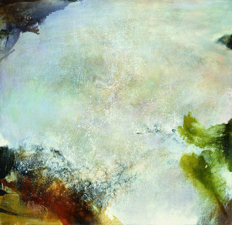 Zao Wou-Ki, 05.03.75 – 07.01.85, 1975-1985 Huile sur toile   250 x 260 cm   Collection particulière   Photo : Patrice Delatouche   Zao Wou-Ki © ADAGP, Paris, 2018