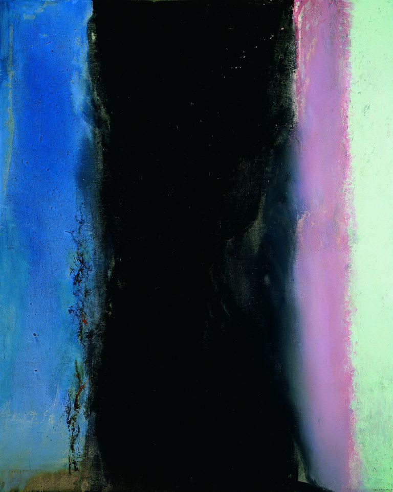 Zao Wou-Ki, Hommage à Matisse I - 02.02.86I, 1986 Huile sur toile   162 x 130 cm   Collection particulière   Photo : Dennis Bouchard   Zao Wou-Ki © ADAGP, Paris, 2018