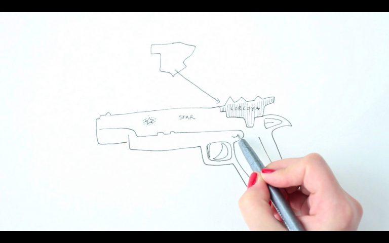 Ana Garcia-Pineda . (Sabadell, 1982)La curva del olvido[La corba de l'oblit], 2015 Vídeo HD, 16:9, color i so / 4 min 34 s