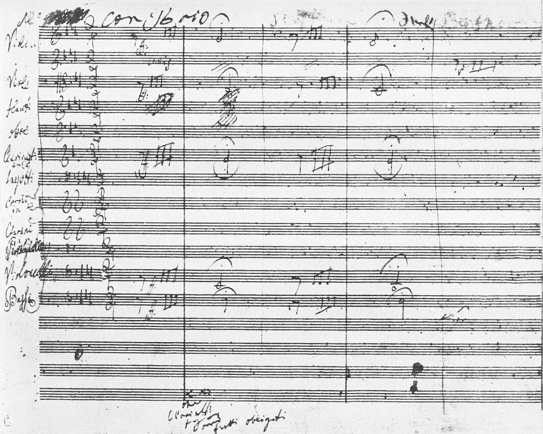Autògraf de la cinquena Simfonia de Beethoven              | Wikimedia Commons