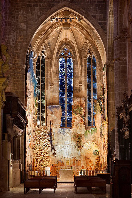 La imponent Capella del Santíssim, a la Catedral de Mallorca