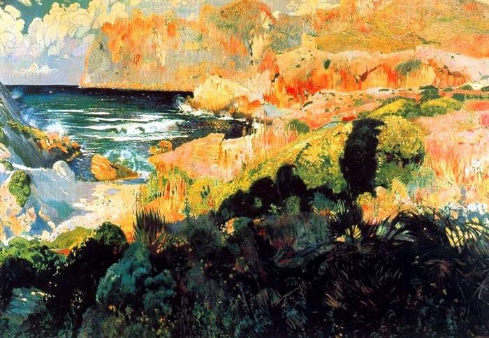 Joaquim Mir, La cala Sant Vicenç (1902), oli. 2'80 x 4 m. Museu de Montserrat