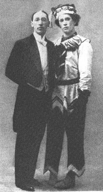 Ígor Stravinsky amb Vaclav Nijinskij