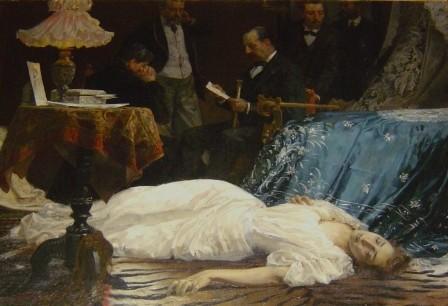 José Garnelo, Suicida por amor, Vilanova i la Geltrú, Biblioteca-Museu Victor Balaguer