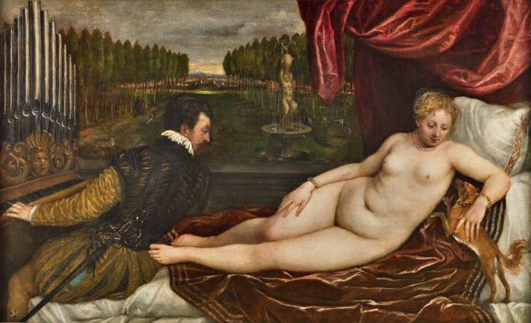 'Venus recreant-se en la música', Tiziano