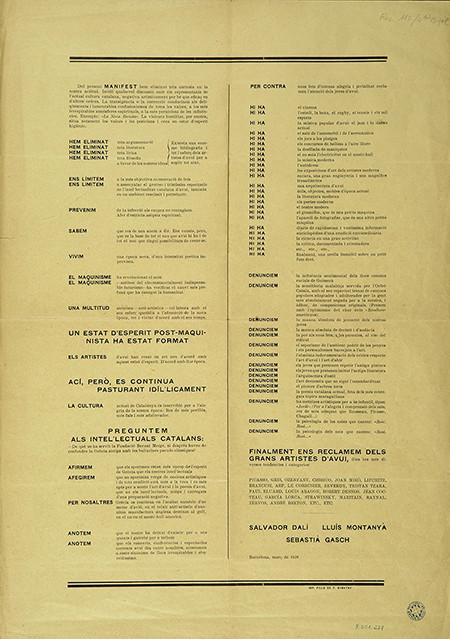 El Manifest groc